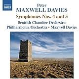 Maxwell Davies: Symphonies No. 4 & 5 (Scottish Chamber Orchestra; Philharmonia Orchestra; Peter Maxwell Davies) (Naxos: 8572351)