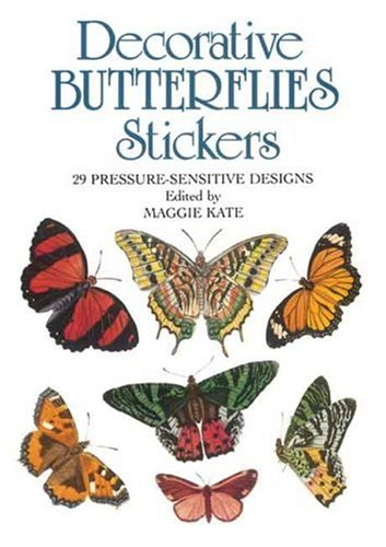 Decorative Butterflies Stickers: 29 Pressure-Sensitive Designs (Dover Stickers)