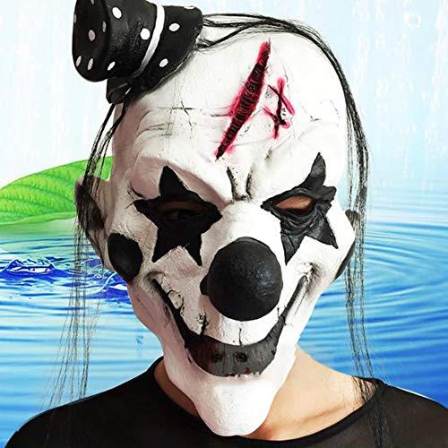 Kostüm Echo Cosplay - GSYClbf Latexmaske, einzigartige Kreativität, Exquisite Mode, Gruselige Clownmaske, Spukhaus, Cosplay, Kostüme, Halloween, Party, Requisite schwarz/weiß