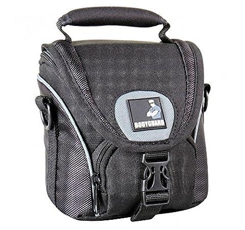 BODYGUARD 5* Tasche schwarz - passend für Canon PowerShot G3 X Canon PowerShot SX60 HS Canon EOS M10 Canon EOS M3 Samsung WB1100F Nikon Coolpix B700 Samsung NX300