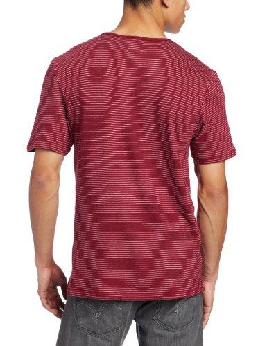 Herren T-Shirt Volcom Cypress Crew Henley T-Shirt plum speckle