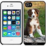 DesignedByIndependentArtists Coque pour Iphone 4/4S - Mignon Chiot Berger Australien...