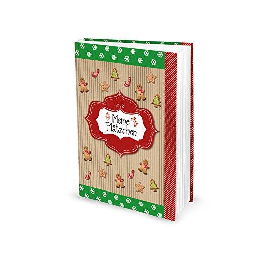 Kleines Rezeptbuch MEINE PLÄTZCHEN Hardcover rot grün Backbuch Weihnachtsplätzchen Gebäck Pralinen Weihnachten Lebkuchen Lieblingsrezepte - Geschenk weihnachtlich Küche Kochen Essen -
