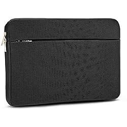 """AtailorBird Housse de Protection Ordinateur 15.6"""", Pochette PC Portable Ultrabook Sacoche Laptop Compatible 15.6 Pouces - Noir"""