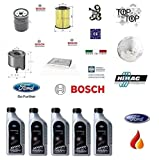 Kit filtri tagliando Bosch III 1.6 TDCi 85 Kw + 5 Litri Olio 5W30