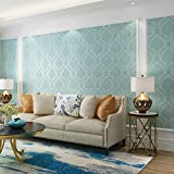 No Brand Wallpaperself From the Sticky 50 Meters Large Roll Waterproof Moisture-proof Home Decoration 3D Stereo Wallpaper Blue Rose 50m long 60cm wide