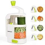Cortador de Verduras Sedhoom MultiFunción Alimentos 4 Cuchillas,Espiralizador de Picar...