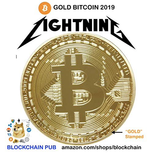 1oz .999 Fine Gold Plated Bitcoin Commemorative Round by Gold Bitcoin