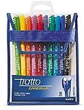 Tratto CF10CANCELLIK ass busta–Stylo à encre Gel (Noir, Bleu, Vert, Bleu clair, Light Green, Orange, Rouge, Jaune, Bleu)