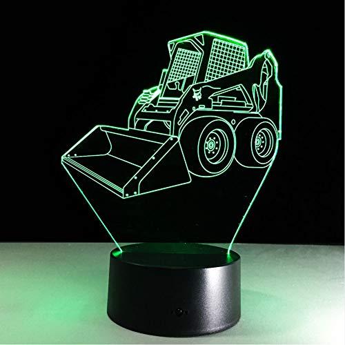Zyyymx Acryl Panel Bulldozer Ausgraben 3D Lava Lampe Usb 7 Farben Ändern Kinder Schlafzimmer Stimmung Beleuchtung