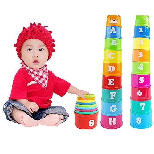 Seguryy Jouets Tasses éducatifs en Plastique pour bébé