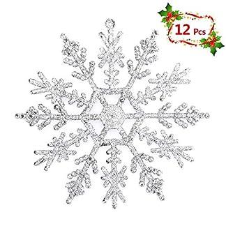 Mbuynow Copos de Nieve para Adornos de Arbol de Navidad