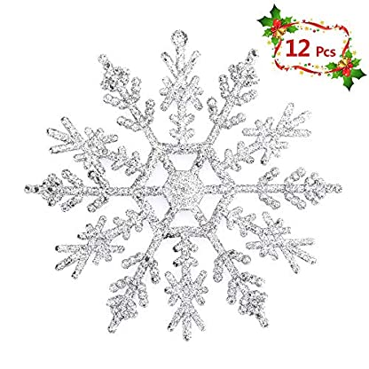 Mbuynow Copos de Nieve Decoracion de Navidad para Adornos de Árbol de Navidad Juego de 30 Piezas