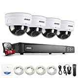 ANNKE Video Surveillance Kit 8CH 6.0MP POE NVR Security Camera Systems w/ 1TB HDD Included and 4x 2.0Megapixels HD Day/Night Vision IP66 Weatherproof Surveillance Dome Camera Compatible with HIKI IP Camera