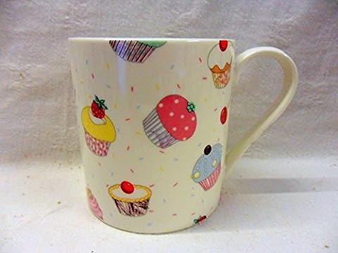 Jumbo China Mug in cupcake design