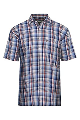 Mens Chester Short Sleeve Country Check Summer Shirt Plus Size Classic Fit (XL - 44