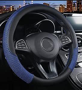 Istn Unisexs Anti Rutsch Breath Eis Seide Lenkradabdeckung Universal Blau Auto