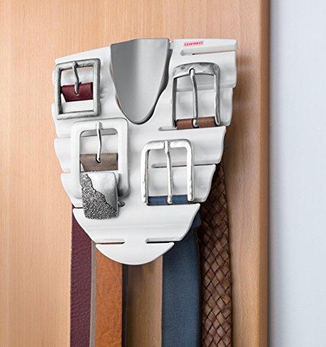 Leifheit Omega - Soporte para cinturones, color blanco