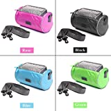 #4: Magnusdeal Waterproof Bicycle Front Top Frame Tube Handlebar Bag Smartphone Storage Holder With Touchscreen transparent PVC Pouch (Can hold Cell Phone upto 5.5 inch) Bicycle Phone Holder For Riding Travel Outdoor Activities, GPS Navigation Pouch and Removable Shoulder Strap.(1 Pc)