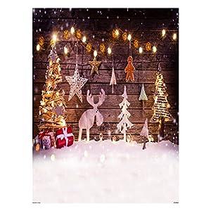 Andoer 1,5 * 2 metri / 5 * 7 piedi Sfondo Di Tema Di Festa Di Natale Contesto pieghevole in fibra di poliestere per la fotografia di partito di Christams 6 modelli per l'opzione