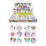 84 x Tatuajes Temporales Unicornios Diseños Surtidos para Niñas/Niños