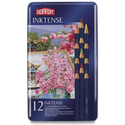 Reeves Derwent Inktense Pencil Set, Assorted Colour, 12-Tin