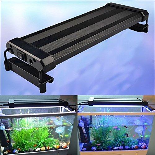 RunQiao 28CM 36SMD 6W Aquarium Fische Tank SMD LED Lampe Licht  Aquariumbeleuchtung Aufsetzleuchte Weiß + Blau