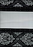 Crown L BONCUKLU ZEBRA PERDE DUO ROLLO DOPPEL ROLLO SCHWARZ MIT BLUMEN MUSTER M-13 (90 x 200 cm)