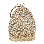 Handmade Pearl Handbag Lady Banquet Evening Bag Wild Fashion Small Bag - clutches