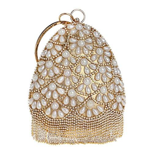 Handmade Pearl Handbag Lady Banquet Evening Bag Wild Fashion Small Bag
