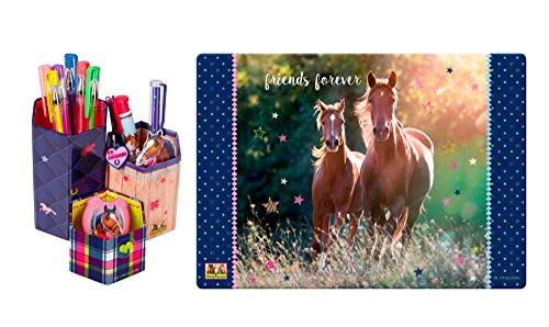 pferdefreunde-2er-set-12847-13201-stiftekocher-pferdefreunde-schreibtischunterlage
