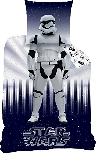 Star Wars Parure de lit, Coton, Bleu foncé, 135x 200cm