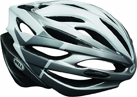 Bell Fahrradhelm Array, White/Silver Velocity, 52-56 cm, 210055025