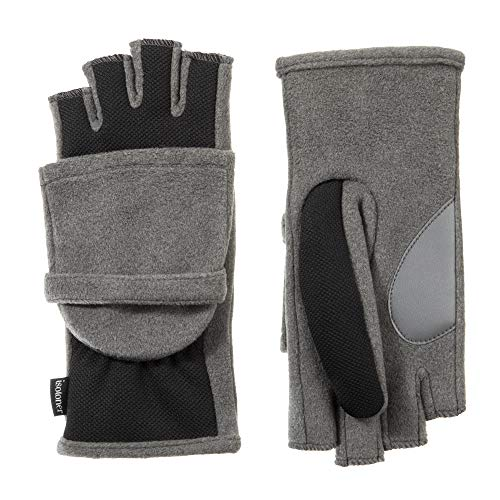 Isotoner Nylon-handschuhe (isotoner Women's Flip Top Cold Weather Gloves with Convertible, Open Thumb and Soft Fleece Palm)