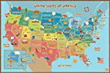 Wall PopsWPE0623 Kids USA Dry Erase Map ...