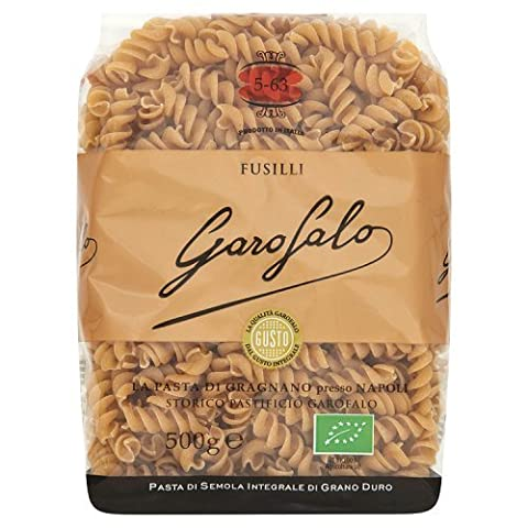 Garofalo Organic Whole Wheat Fusilli Dry Pasta, 500g