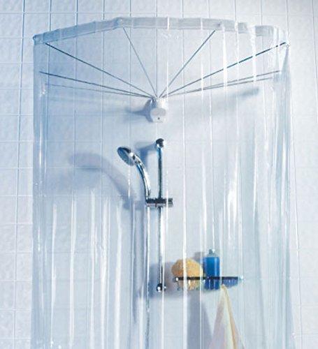 duschvorhang runddusche Spirella Duschspinne Duschfaltschirm