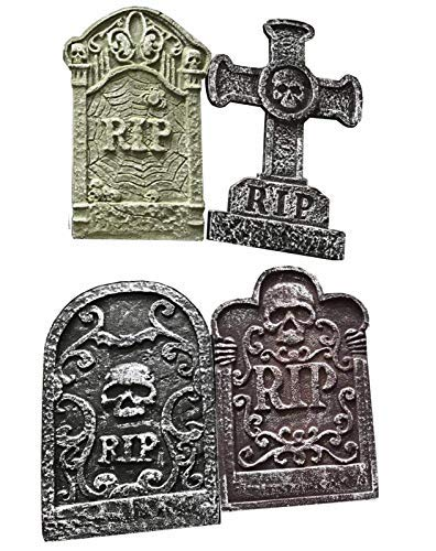(Toys (Pack 4 Kinder 55cm Halloween-Dekoration Friedhof Grabsteine (Alter Jahr : 5)