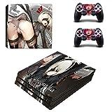 Playstation 4 Pro + 2 Controller Aufkleber Schutzfolien Set - Nier:Automata (1) /PS4 P