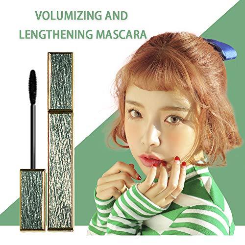 1PC Natürliche Wimpern Mascara Lengthening und dick Wimpern Langlebige Waterproof Mascara den ganzen Tag Exquisit Augen Make-up für Voll, Lange, dichte Wimpern (Grün) -