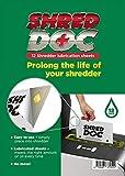 Shred Doc Schmierblätter mit Öl für Aktenvernichter, 12 Stück, Schmierblätter mit Ölpäckchen, passend für alle Kreuzschnitt- und Streifenschnitt-Aktenvernichter