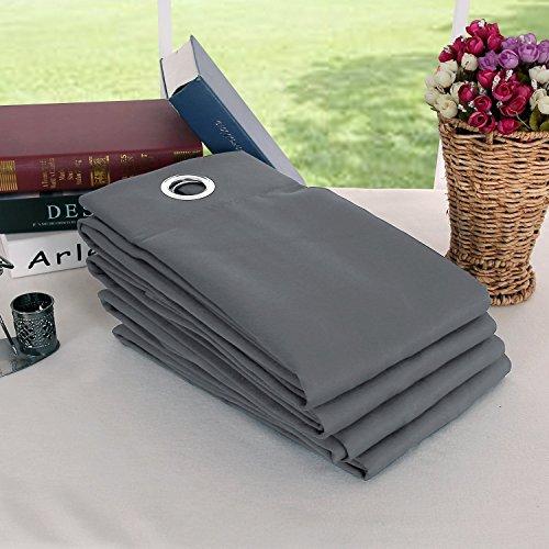 Deconovo tende oscuranti termiche isolanti tende da sole per casa moderna 100% poliestere 140x180 cm grigio chiaro 4 pannelli