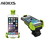 Handyhalterung fahrrad, AEDILYS Universal Handy Fahrrad Lenker & Motorrad Halter Wiege Für iPhone 6 6 (+) 6S 6S Plus 5S 5 C 4S, Samsung Galaxy S5 S4 S3 Note 2 Note 3 Note 4, Nexus 5, HTC, LG, Blackberry grün
