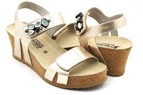 Mephisto , Damen Zehentrenner, Gold - Gold - Größe: 40 (Mephisto Schuhe Gold)
