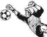 Wandtattoo No.TA77 Torwart II fussball sportlich fit tor tormann, Farbe:Haselnussbraun;Größe:37cm x 75cm