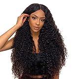 Perruque Cheveux Naturel pour Black Perruque Lace Front Cheveux Humain Bresilienne Vierge Boucle Pre Plucked Délié Naturel Longue Water Wave Lace Front Wig 24 pouce