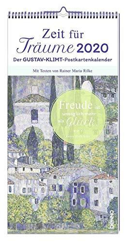Zeit für Träume 2020: Der Gustav-Klimt-Postkartenkalender Mit Texten von Rainer Maria Rilke