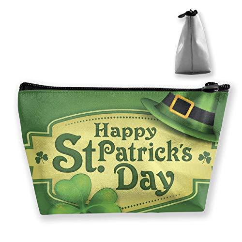 Frauen Happy St. Patrick's Day Elfen Hut Make-up Taschen Portable Zipper Kosmetiktasche