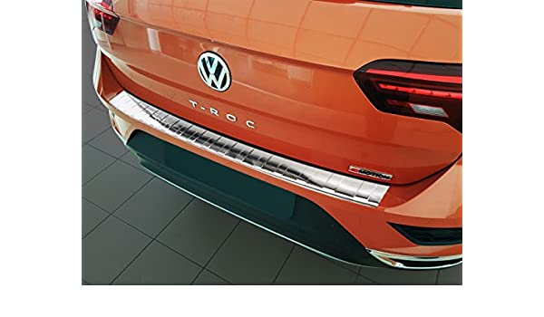 Ladekantenschutz Stoßstangenschutz für Volkswagen T-Roc 2017-2018 Edelstahl