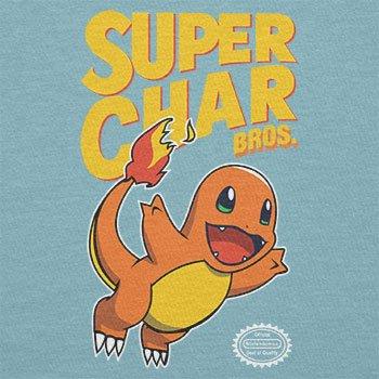 NERDO - Super Char Bros. - Damen T-Shirt Hellblau